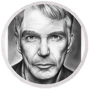 Billy Bob Thornton Round Beach Towel