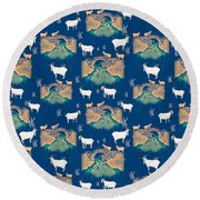 Billy Goat Gruff Round Beach Towel by Beth Travers