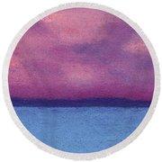 Bimini Sunrise Round Beach Towel
