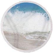 Bimini Wave Sequence 3 Round Beach Towel