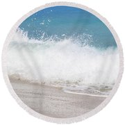 Bimini Wave Sequence 4 Round Beach Towel
