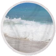 Bimini Wave Sequence 5 Round Beach Towel