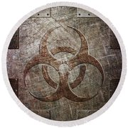 Bio Hazard Round Beach Towel