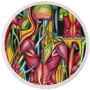 Biological Fusion Round Beach Towel