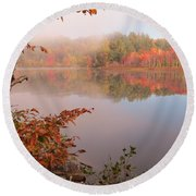 Birch And Beyond Round Beach Towel by MTBobbins Photography