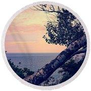 Birch At The Overlook Round Beach Towel