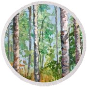 Birch Round Beach Towel