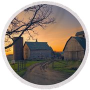 Birch Barn 2 Round Beach Towel by Bonfire Photography