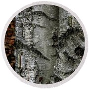 Round Beach Towel featuring the photograph Birch by Kenneth Campbell