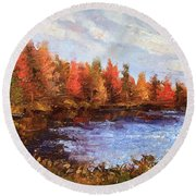 Birchwood Lake Round Beach Towel