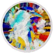 Bird In Paridise Round Beach Towel