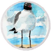 Bird Legs Round Beach Towel
