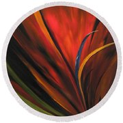 Bird Of Paradise Round Beach Towel