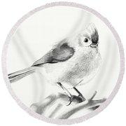 Bird On A Branch Round Beach Towel by Eleonora Perlic