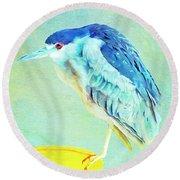 Bird On A Chair Round Beach Towel