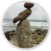 Bird Rock Art Round Beach Towel