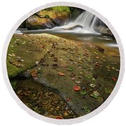 Bird Rock Falls Round Beach Towel