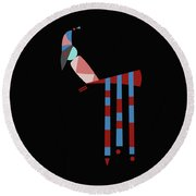 Birdie Round Beach Towel by IaPo