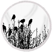 Birdies Round Beach Towel