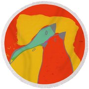 Birdies - Q11b22 Round Beach Towel