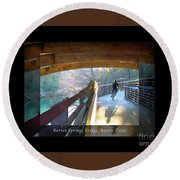 Birds Boaters And Bridges Of Barton Springs - Bridges One Greeting Card Poster V2 Round Beach Towel