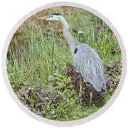 Birds Eye View Round Beach Towel by Judy Kay