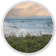 Round Beach Towel featuring the photograph Bird's Eye View by Robin-Lee Vieira
