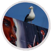 Round Beach Towel featuring the photograph Birds Eye View by Xn Tyler