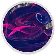 Round Beach Towel featuring the digital art Birds Of Paradise by Maciek Froncisz