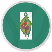 Birth Round Beach Towel