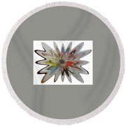 Birth Of A Star Round Beach Towel
