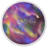 Round Beach Towel featuring the digital art Birth Of The Phoenix by Amyla Silverflame