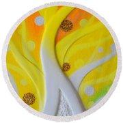 Birth Yellowgold 3 Round Beach Towel