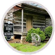 Birthplace Of Wc Handy Round Beach Towel
