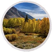 Bishop Creek Aspen Round Beach Towel
