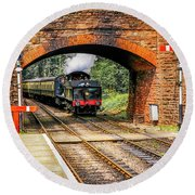 Bishops Lydeard Station, Uk Round Beach Towel