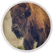 Bison 8 Round Beach Towel
