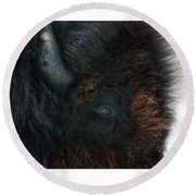 Bison Bull's Eye Round Beach Towel