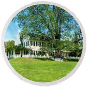 Bit O Nh History Round Beach Towel by Greg Fortier