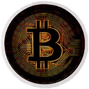 Bitcoin Round Beach Towel