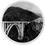 Bixby Bridge - Big Sur - California Round Beach Towel