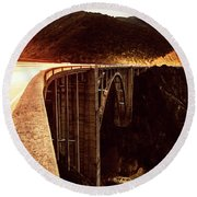 Bixby Creek Bridge, California Round Beach Towel