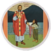 Bl. Stanley Rother - Lwsro Round Beach Towel