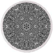 Round Beach Towel featuring the digital art Black And  White 24 by Robert Thalmeier