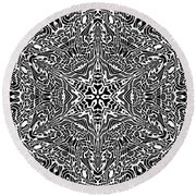 Black And  White 27 Round Beach Towel by Robert Thalmeier