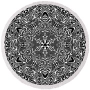 Black And  White 28 Round Beach Towel by Robert Thalmeier