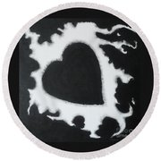 Black And White-4 Round Beach Towel