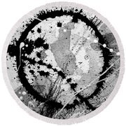 Black And White Five Round Beach Towel