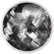 Black And White Games Of Thrones Another Story Round Beach Towel