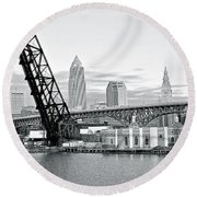 Round Beach Towel featuring the photograph Black And White In Daylight by Frozen in Time Fine Art Photography